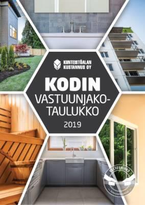 Kodin vastuunjakotaulukko 2019