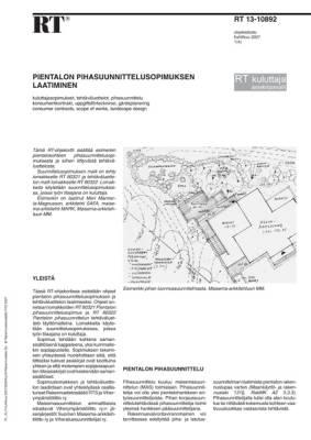 RT 13-10892, Pientalon pihasuunnittelusopimuksen laatiminen