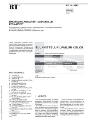 RT 10-10883, Rakennusalan suunnittelukilpailun periaatteet