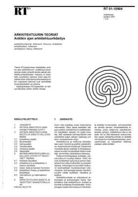 RT 01-10904, Arkkitehtuurin teoriat. Antiikin ajan arkkitehtuurikäsitys