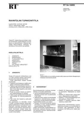 RT 94-10899, Ravintolan tupakointitila