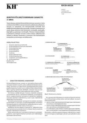 KH X9-00526, Kiinteistöliiketoiminnan sanasto. 2. laitos