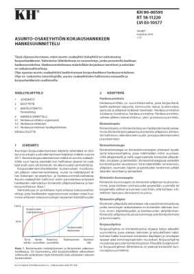 RT 18-11220, Asunto-osakeyhtiön korjaushankkeen hankesuunnittelu