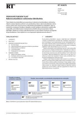 RT 103079, Perusopetuksen tilat. Rakennushankkeen valmistelun lähtökohtia