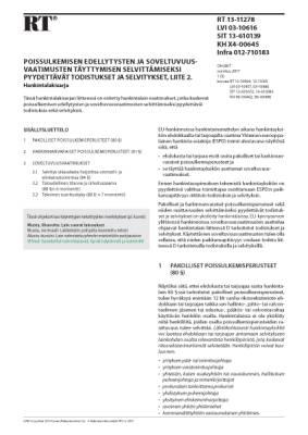 RT 13-11278, Poissulkemisen edellytysten ja soveltuvuusvaatimusten täyttymisen selvittämiseksi pyydettävät todistukset ja selvitykset, liite 2. Hankintalakisarja