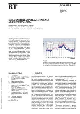RT 50-10910, Kesäaikaisten lämpötilojen hallinta asuinkerrostaloissa