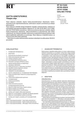 RT 18-11244, Haitta-ainetutkimus. Tilaajan ohje