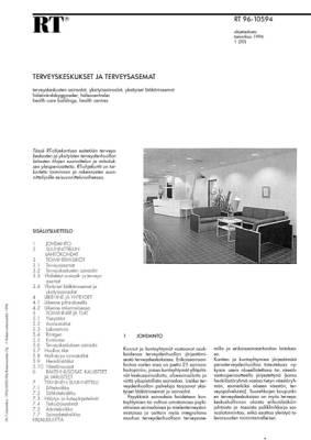 RT 96-10594, Terveyskeskukset ja terveysasemat
