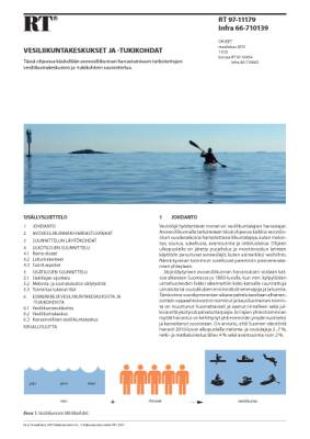 RT 97-11179, Vesiliikuntakeskukset ja -tukikohdat