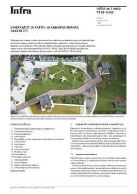 RT 85-11205, Viherkatot ja katto- ja kansipuutarhat, rakenteet