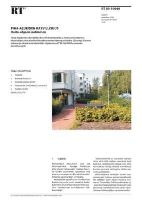 RT 89-10949, Piha-alueen kasvillisuus. Hoito-ohjeen laatiminen