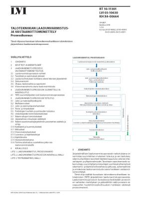 RT 10-11301, Talotekniikan laadunvarmistus- ja vastaanottomenettely. Prosessikuvaus