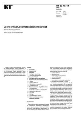 RT 30-10314, Luonnonkivet, suomalaiset rakennuskivet