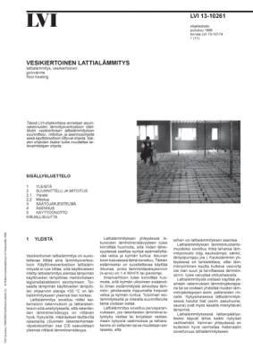 LVI 13-10261, Vesikiertoinen lattialämmitys