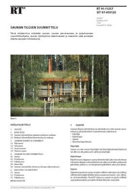 RT 91-11257, Saunan tilojen suunnittelu
