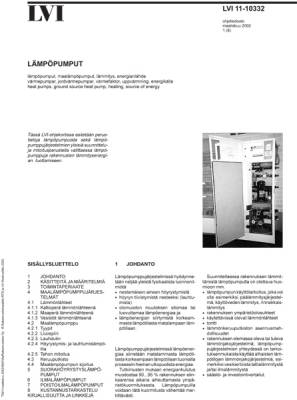 LVI 11-10332, Lämpöpumput