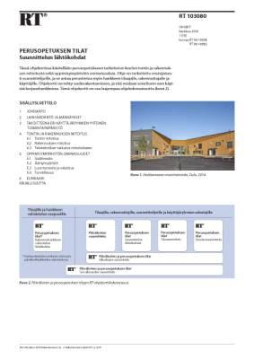RT 103080, Perusopetuksen tilat. Suunnittelun lähtökohdat