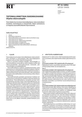 RT 10-10992, Tietomallinnettava rakennushanke. Ohjeita rakennuttajalle