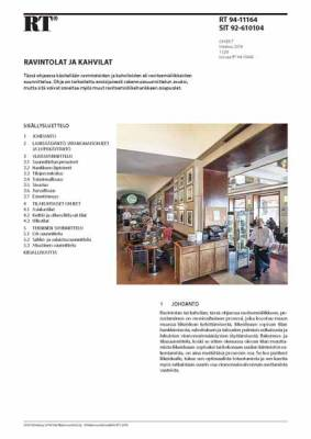 RT 94-11164, Ravintolat ja kahvilat