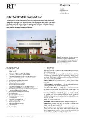 RT 82-11168, Hirsitalon suunnitteluperusteet