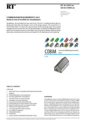 RT 10-11073 en, Common BIM Requirements 2012. Series 8. Use of models for visualization (Version 1.0, 2012)