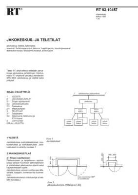 RT 92-10457, Jakokeskus- ja teletilat