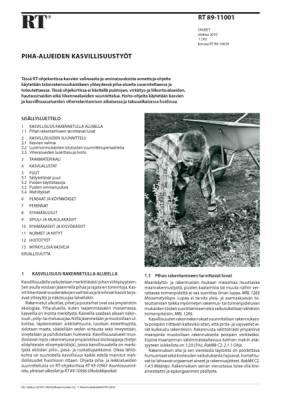 RT 89-11001, Piha-alueiden kasvillisuustyöt