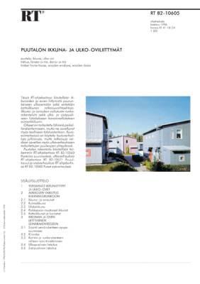 RT 82-10605, Puutalon ikkuna- ja ulko-oviliittymät