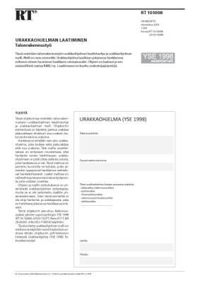 RT 103008, Urakkaohjelman laatiminen. Talonrakennustyö (YSE 1998 asiakirjamalli)