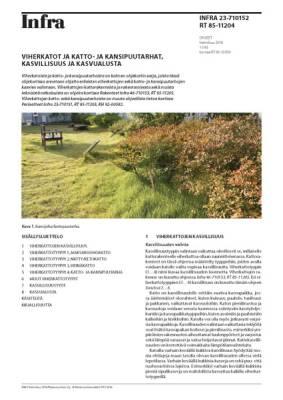 RT 85-11204, Viherkatot ja katto- ja kansipuutarhat, kasvillisuus ja kasvualusta