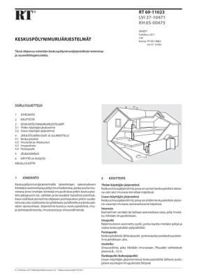 RT 69-11023, Keskuspölynimurijärjestelmät