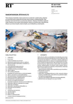 RT 69-11183, Rakentamisen jätehuolto