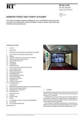 RT 42-11110, Konekäyttöiset ovet, portit ja puomit