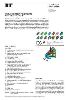 RT 10-11072 en, Common BIM Requirements 2012. Series 7. Quantity take-off (Version 1.0, 2012)