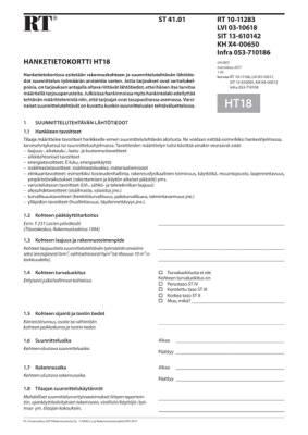 RT 10-11283, Hanketietokortti HT18