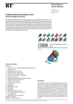 RT 10-11071 en, Common BIM Requirements 2012. Series 6. Quality assurance (Version 1.0, 2012)