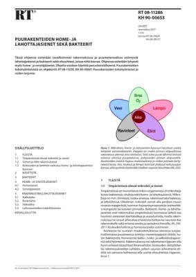 RT 08-11286, Puurakenteiden home- ja lahottajasienet sekä bakteerit