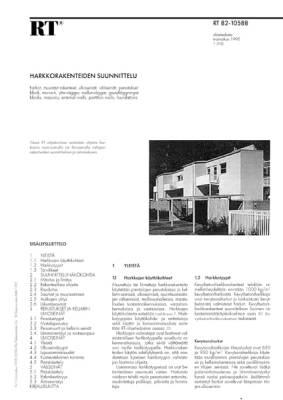 RT 82-10588, Harkkorakenteiden suunnittelu
