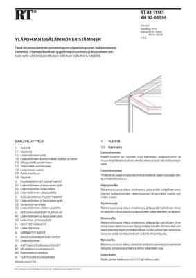 RT 83-11161, Yläpohjan lisälämmöneristäminen