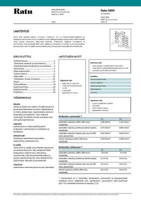 Ratu 0484, Laatoitus