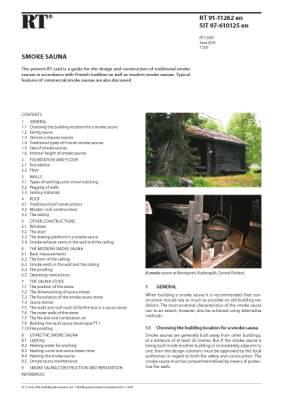RT 91-11262 en, Smoke sauna