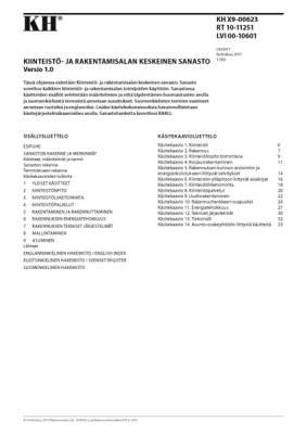 RT 10-11251, Kiinteistö- ja rakentamisalan keskeinen sanasto. Versio 1.0