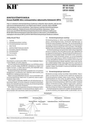 RT 18-11242, Kiinteistönpitokirja. Ennen RakMK A4:n voimaantuloa rakennettu kiinteistö (KP2)