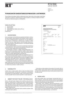 RT 16-11042, Porakaivon rakentamissopimuksen laatiminen