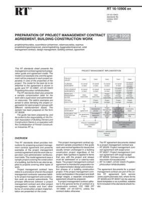 RT 16-10906 en, Preparation of project management contract agreement, building construction work