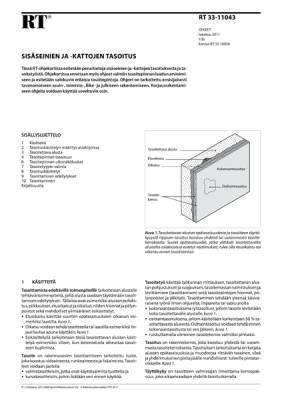 RT 33-11043, Sisäseinien ja -kattojen tasoitus