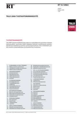 RT 10-10963, Talo 2000 Tuotantonimikkeistö