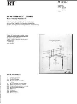 RT 15-10641, Mitoituksen esittäminen. Rakennuspiirustukset
