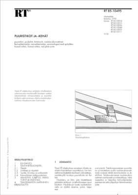 RT 85-10495, Puuristikot ja -kehät