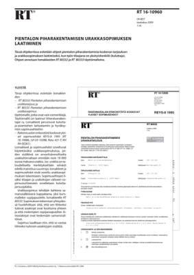 RT 16-10960, Pientalon piharakentamisen urakkasopimuksen laatiminen